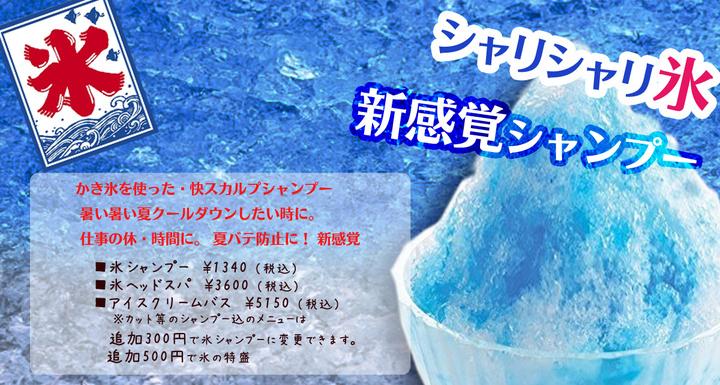 氷シャンプー